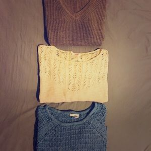 Oversized knit sweater bundle